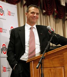 Urban Meyer - Ohio State Football Coach. Urban was born in Toledo, Ohio in 1964. He grew up in Ashtabula, Ohio, and attended the University of Cincinnati where he played football.