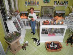 Dollhouse Miniature Pet Shop Room Box Detail 2 by Sheila A. Nielson