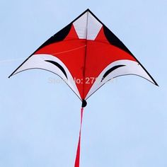 7ft animal RED Fox Kite outdoor fun sports Children's toys Delta kites for kids and Adults toys with flying line