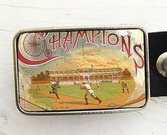 Vintage baseball belt buckle from bmused on etsy