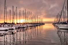 10. The sunrise and sailboats on Lake Guntersville were wonderfully captured in this photo.