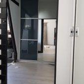 Colour Glass Sliding And Mirror Sliding Door Tall Cabinet Storage, Locker Storage, Sliding Doors, Swift, Custom Design, This Is Us, Colour, Mirror, Glass