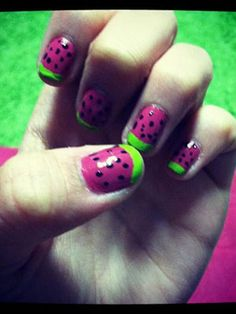 I-carried-a-watermelon #nails plus 9 other cool manis from Cosmo readers.