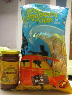 What's Good at Trader Joe's?: Trader Joe's Organic Tortilla Longboard Chips and Organic Tomatillo & Roasted Yellow Chile Salsa