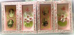 Hello Everyone I& back with another Sneak Peek of the NEW Tonic Studios Shadowbox Creations Dies Set - it is so versatile. You creat. Tonic Cards, Pink Cards, How To Make Box, Create And Craft, Box Frames, Diy Christmas Gifts, Craft Tutorials, Shadow Box, Projects To Try