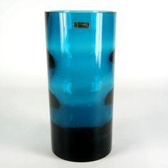 WMF Designer Glas Vase Innen Gewellt 60er 70er Jahre Design ca. 16cm de.picclick.com