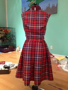 Alexander McQueen bridesmaid dress - in MacFarlane tartan