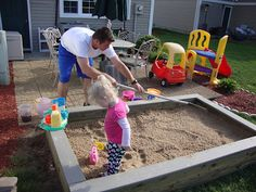DIY Sandbox by thenymelrosefamily #DIY #Kids #Sandbox #thenymelrosefamily