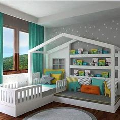 Toddler Bedroom Made From Pallets   ---  #pallets