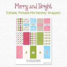 Mini Hershey's Candy Bar Wrappers by PrintCreateCelebrate on Etsy, $6.50