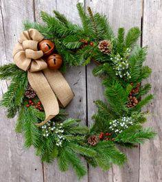 Winter Wreath Holiday Wreath Christmas Wreath by StyledSeasons