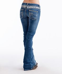 Take a look at this Medium Wash Lacy Coco Bootcut Jeans on zulily today!