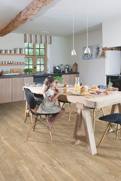 Elegant and chic, these Quick-Step Livyn luxury vinyl tiles will add a stylish accent to any interior. 5 benefits to Livyn Ambient. Colour & code: Black Slate: Waterproof Luxury Vinyl Tiles - Our most popular flooring product. Click Flooring, Diy Flooring, Kitchen Flooring, Flooring Ideas, Luxury Vinyl Flooring, Luxury Vinyl Tile, Dining Room Inspiration, Interior Inspiration, Sol Pvc