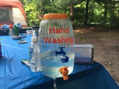 Hand Washing station for camping made with vinyl