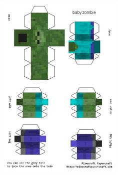 Créez votre skin en papier et en 3D ! - Minecraft
