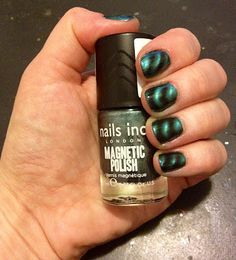 Mani of the week: Nails Inc. Whitehall Magnetic Polish - love this!