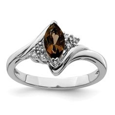 925 Sterling Silver Diamond Smoky Quartz Band Ring Gemstone Fine Jewelry Gifts For Women For Her Jewelry Gifts, Fine Jewelry, Women Jewelry, Diamond Engagement Rings, Morganite Engagement, Diamond Stone, Smoky Quartz, Silver Diamonds, Gemstone Jewelry