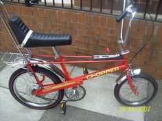 Red Raleigh Chopper - best of all bikes. I had no conception of bike security in those halcyon days and it was stolen from my front path as I ate some beans on toast between sorties to the park. Cool Bicycles, Vintage Bicycles, Cool Bikes, Graffiti Letters Styles, Raleigh Chopper, Bike Pic, Push Bikes, Old Bicycle, Custom Cycles