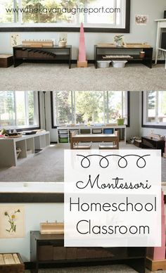 A Montessori homeschool classroom. A look at this space used by toddlers and preschoolers.