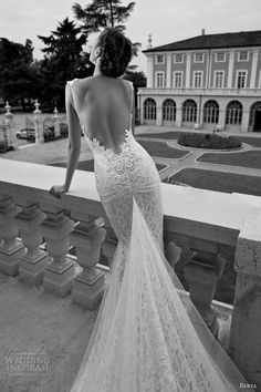 Halterneck sleeveless wedding dresses - Lace, Mermaid, Floor-length,