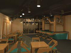 furniture set for cafe on Behance