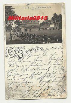 AK Ansichtskarte 1901  Gruss aus Schwarzort Juodkrantė Hotel Strumhoefel Memel