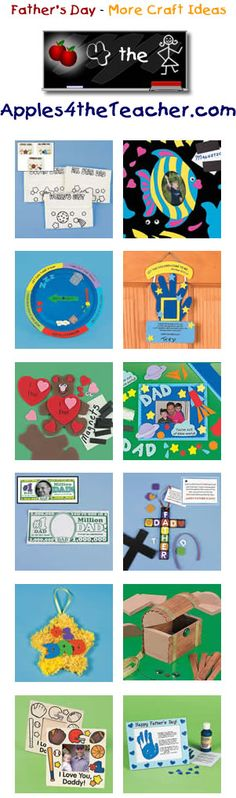 Fun Fathers Day crafts for kids - Father's Day craft ideas for children.