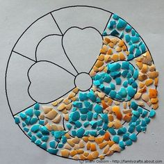 Tojáshéjas mozaik gyerekeknek - Színes Ötletek