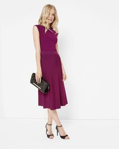 Knitted midi skirt - Mid Purple | Skirts & Shorts | Ted Baker