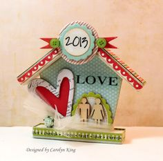 Heart with Love 3D House