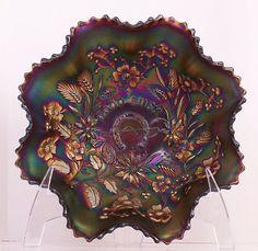 Northwood Carnival Glass Good Luck Bowl by GlassGirlme on Etsy, $322.00