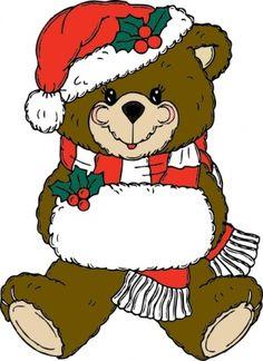 Christmas Teddy Bear, Christmas Hat, Christmas Animals, Christmas Cross, Christmas Decor, Christmas Ideas, Merry Christmas, Christmas Clipart Free, Free Christmas Backgrounds