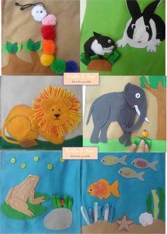 Livro Sensorial em Feltro Indicado para os bebês possui atividades de exploração sensorial como: Valor R$90,00 Curta nossa página no facebook: https://www.facebook.com/RetalhoeAmor Entre em contato através do e-mail: retalhoamor@yahoo.com.br