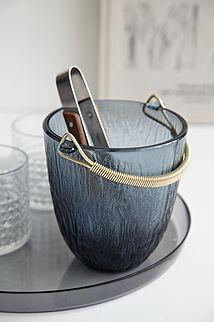 Glas isspand m/tang - 175kr. Køb den på www.loppedesign.dk