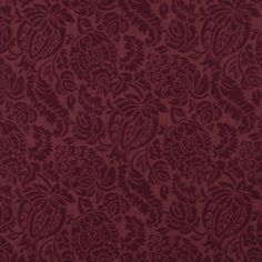 Burgundy/Red/Rust Brocade/Matelasse, Damask/Jacquard  Upholstery Fabric - K6665 WINE/GARDEN