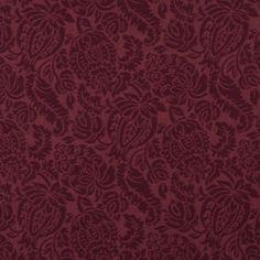 Burgundy/Red/Rust Brocade/Matelasse, Damask/Jacquard  Upholstery Fabric - K6665 WINE/GARDEN
