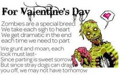 Zombie Valentines Day Card