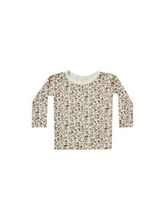 Longsleeve tee that is stretchy and soft made of our new bamboo fabric.Featuring ourFleur all-over print on natural.Care: Machine wash cold. Hang to dry.Made of 94% rayon from bamboo, 6% elastane