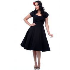 1950's Retro Plus Size Dresses: Cocktail to Swing Dresses