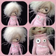 Ravelry: Monster sweater for Blythe pattern by Jane Pierrepont- I'm making this for my girls ASAP!
