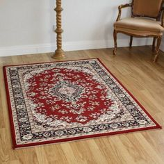 Mmt 14052 1014 Red Traditional Rug 200x290cm Extra Large Choose A
