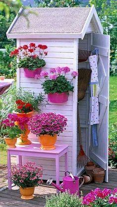 Garden Yard Ideas, Balcony Garden, Garden Projects, Unique Gardens, Beautiful Gardens, Backyard Patio, Backyard Landscaping, House Plants Decor, Garden Structures