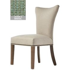 Custom Contemporary Curved-Back Parsons Chair ($170) ❤ liked on Polyvore featuring home, furniture, chairs, dining chairs, nailhead accent chair, fabric parsons dining chairs, upholstered dining chairs, fabric kitchen chairs and nail head chair