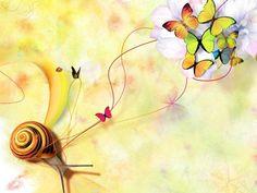 Snail & Flutterbys