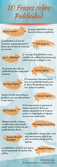 #Infografa en espaol que muestra 10 frases clebres sobre Publicidad