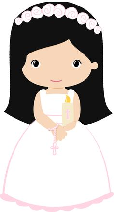 First Communion Silhouette girl VectorStock First Communion Cards, Holy Communion Invitations, Première Communion, First Holy Communion, Baptism Centerpieces, Baptism Favors, Skull Crafts, Eid Party, Owl Classroom