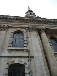 London, England St Martin-in-the-Fields looking-up