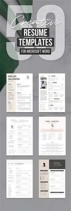 327 Best Creative and professional Resume Templates images in 2018