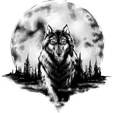 Amazing Wolf and Moon Tattoo Design - Black and gray wolf in front of huge moon. - Amazing Wolf and Moon Tattoo Design – Black and gray wolf in front of huge moon. Style: Black an - Wolf Sleeve, Wolf Tattoo Sleeve, Sleeve Tattoos, Demon Tattoo, Wrist Tattoos, Scorpio Tattoos, Cage Tattoos, Arabic Tattoos, Indian Tattoos
