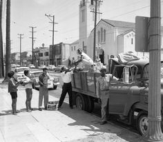 In the late 1950s and early 1960s, whites in Fayette and Haywood Counties, Tennessee,  used their economic advantage to penalize African Americans who attempted to exercise their voting rights. African American communities in Los Angeles responded by offering aid to displaced and unemployed residents.   Institute for Arts and Media Photographs.
